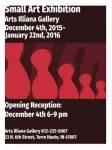 poster for Arts Illiana Small Art show 2015-16
