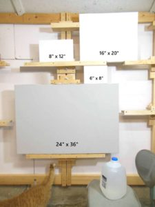 canvases in four sizes
