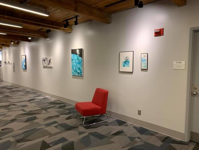glimmering and other paintings an studies installed at Rose-Hulman