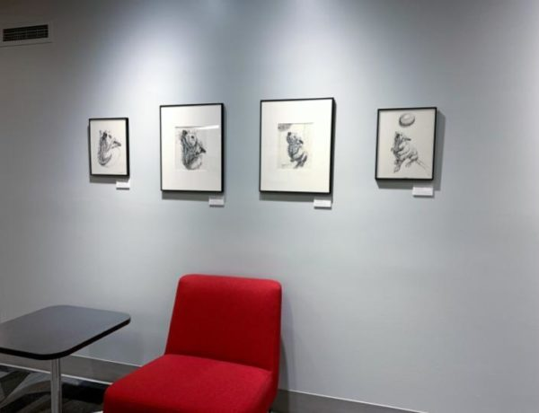 all 4 Mandy portrait studies on view at Rose-Hulman