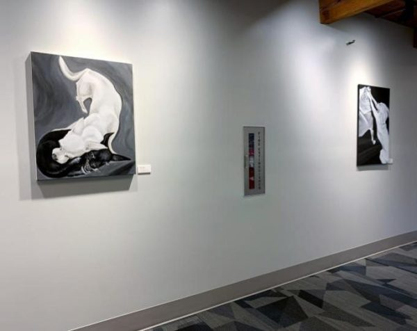 2 chihuahua paintings by ELPetrulis on view at Rose-Hulman