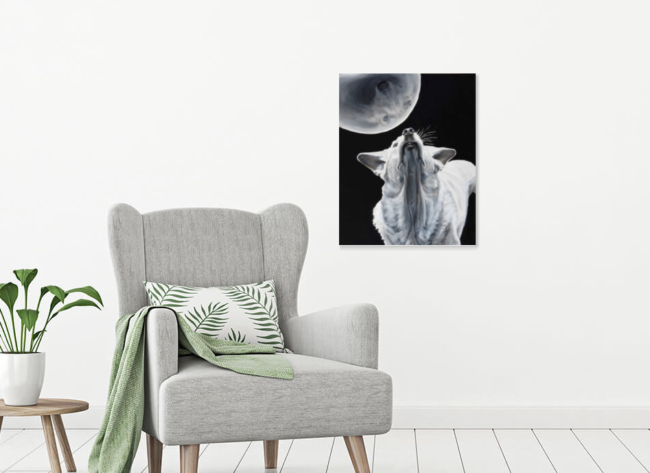 Aureole on a living room wall